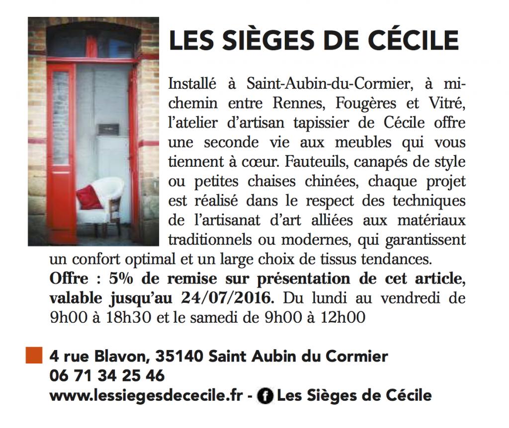 Article ELLE_Les Sièges de Cécile